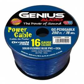 OXYGEN FREE PRIMARY CABLE 16GA/CCA BLUE 250 ft / 76 mts